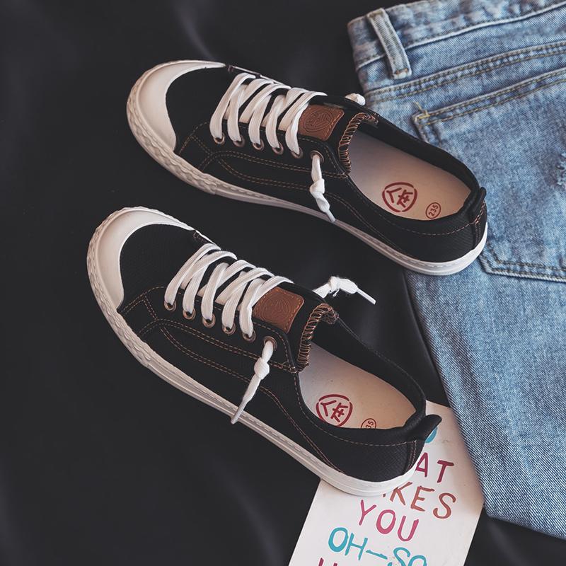 人本平底帆布鞋chic小白布鞋闆鞋男女款
