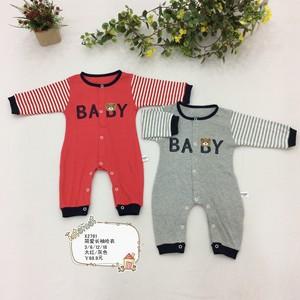 婴儿连体衣服春夏长袖哈衣纯棉外出连体0~1岁半左右男女宝宝哈衣