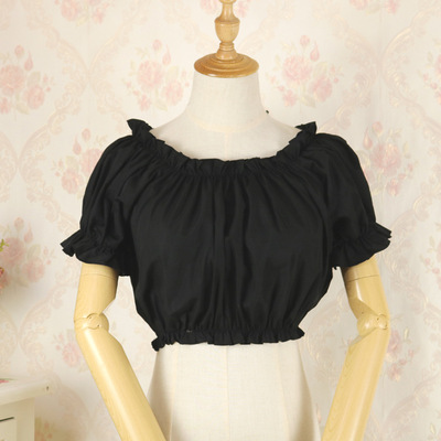 taobao agent Original lolita dress one-neck bottoming shirt chiffon lined long-sleeved tube top blouse top