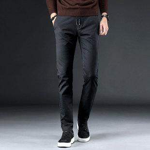 秋款男士休闲裤小脚长裤牛仔裤