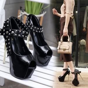 18新款夜店女鞋超高跟时尚凉鞋35-40码 9236-11已有大货