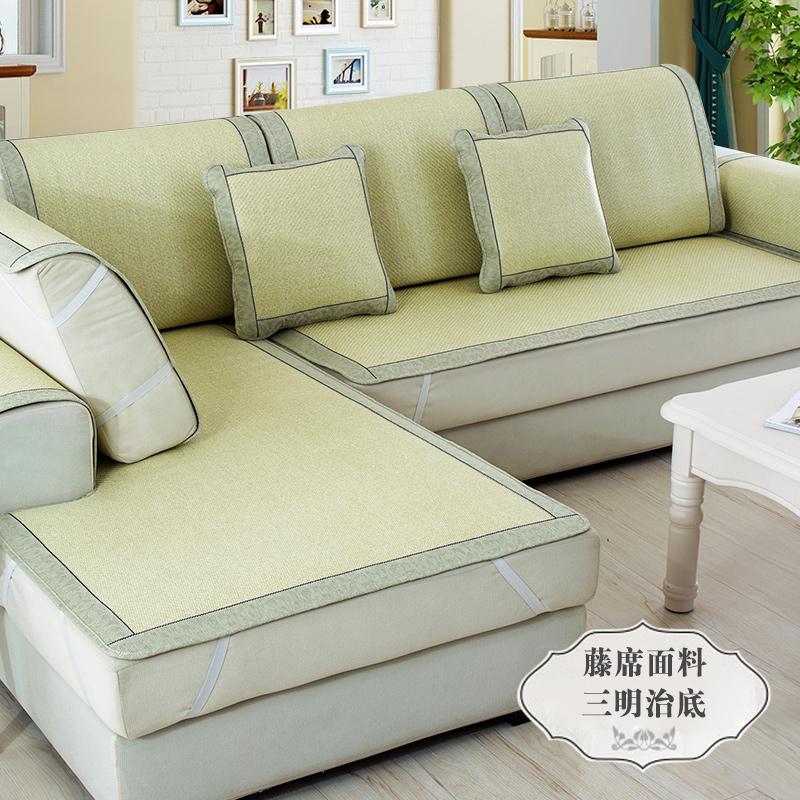 夏季藤席沙发垫凉席坐垫夏凉垫冰丝藤席