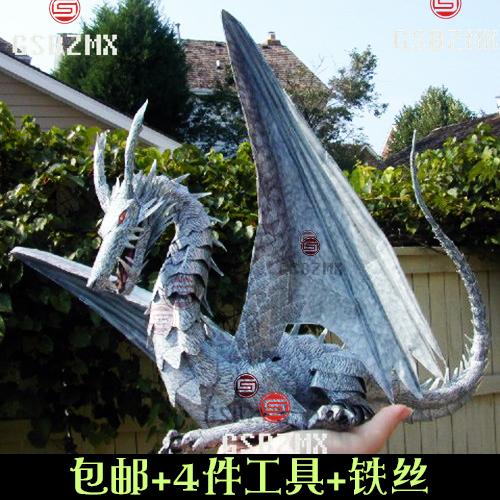 Khuyến mại đất biển trận khổng lồ mô hình giấy rồng Phương Tây Rồng Wolong Rồng Giấy Trung Quốc mô tả giao hàng công cụ