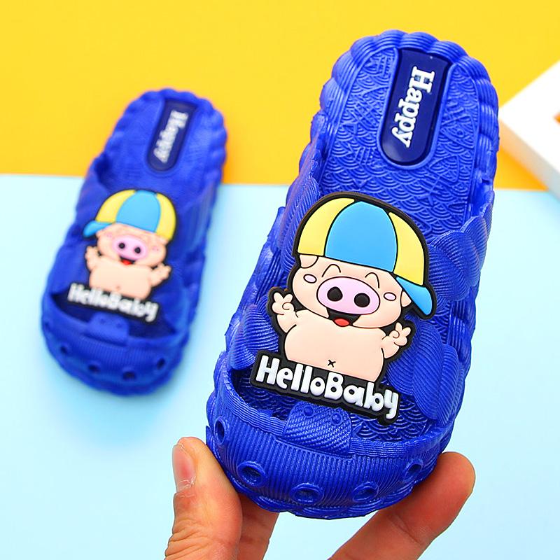 【正版小猪佩奇】儿童包头软底拖鞋