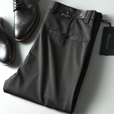 2018 mùa hè cao cấp của nam giới thường quần Tencel stretch mượt vải của nam giới kinh doanh quần thẳng ăn mặc quần
