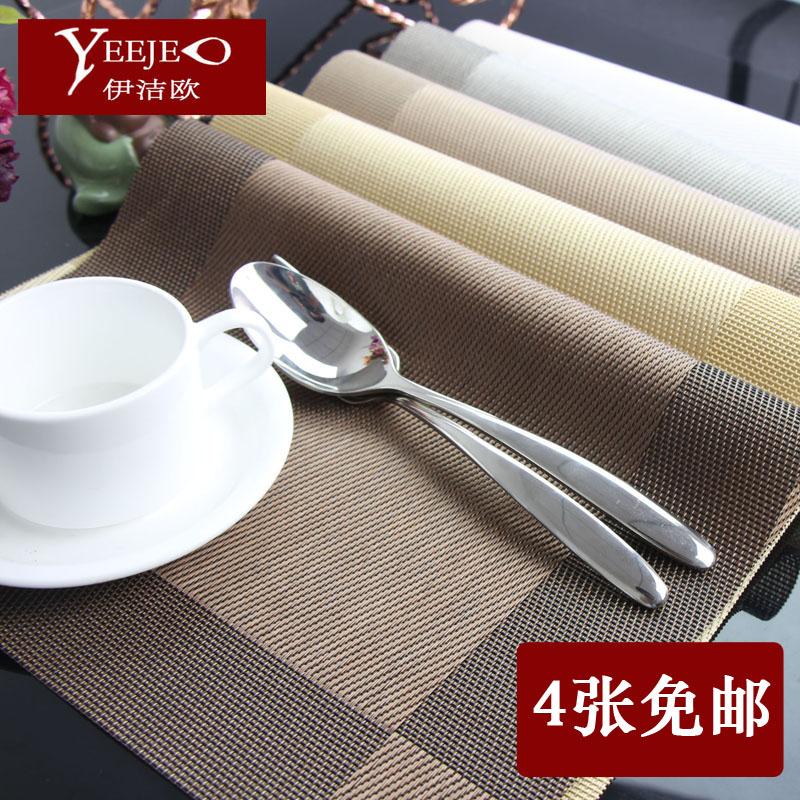 Phong cách châu âu khách sạn cao cấp thực phẩm Phương Tây pad home dễ dàng để làm sạch bộ đồ ăn pad rửa dầu-proof dễ dàng để chăm sóc cách nhiệt PVC placemat