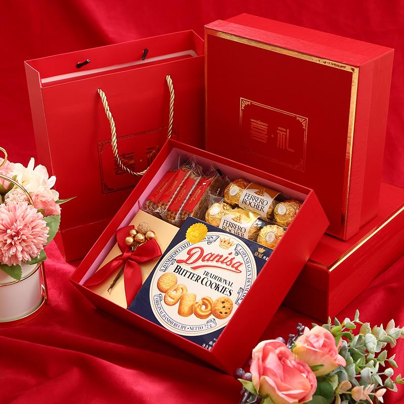 国风婚礼伴手礼订婚礼盒装实用