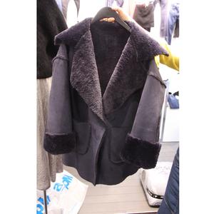Chống mùa giải phóng mặt bằng áo len mùa đông mới của Hàn Quốc thời trang da lộn dày lamb fur coat loose ấm