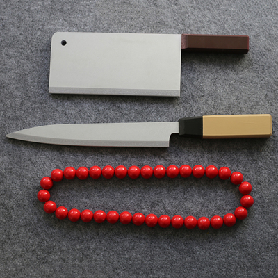 taobao agent Under one person Feng Baobao kitchen knife spot red glass string Okamoto zero point one cosplay props