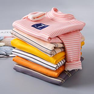 【全尺寸】兒童加絨條紋打底衫