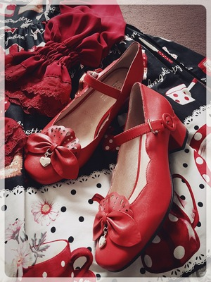taobao agent 【Little girl lolita original design】Little Red Riding Hood's dance shoes leather sheepskin shoes spot page