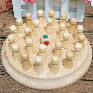 3-6 tuổi mẫu giáo trẻ em của giảng dạy aids trí tuệ bằng gỗ điện người lớn sáu màu bộ nhớ đồ chơi cờ vua cha mẹ và con trò chơi máy tính để bàn
