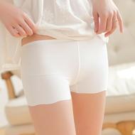 Mùa hè băng lụa liền mạch an toàn quần nữ ba điểm chống ánh sáng siêu ngắn tóm tắt một điểm xà cạp mỏng bảo hiểm quần