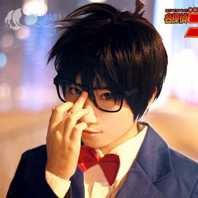 taobao agent Steamed buns cos wig famous detective Conan Kudo Shinichi Conan Skylark close face short hair black spot