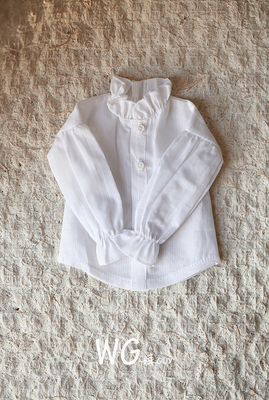 taobao agent Baby GUY BJD doll 6 points clothes 4 points 3 points SD white lantern long-sleeved shirt shirt for men and women