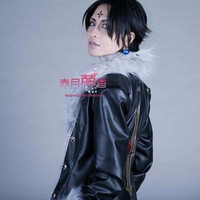 taobao agent Mengxiang family full-time hunter Kurolulu Xilu black face short hair cosplay wig