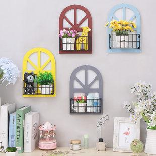 Ретро Маленький праздник окно стеллажи магазин Отделка стен кулон гостиная метоп настенный цветок комната стена верхушки аксессуары