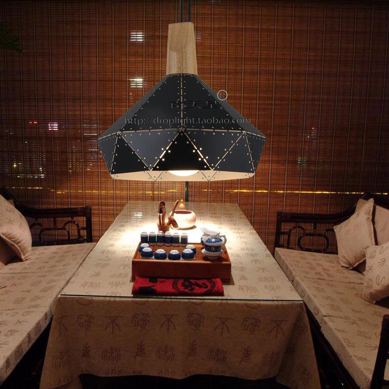 黑色实木吊灯创意复古网吧艺术工业风格西餐厅怀旧吊灯吧台单头