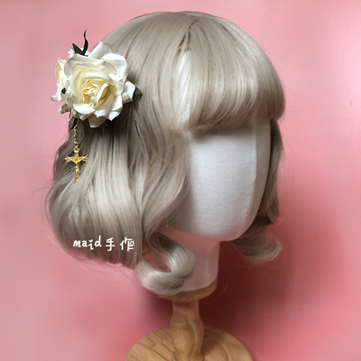 taobao agent 【Original】Free shipping lolita hand-made hair comb, rose flower brooch, hair clip, bowknot, color small objects