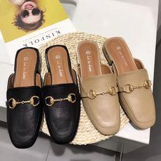2019新款女鞋包头休闲鞋低跟韩版百搭女拖鞋