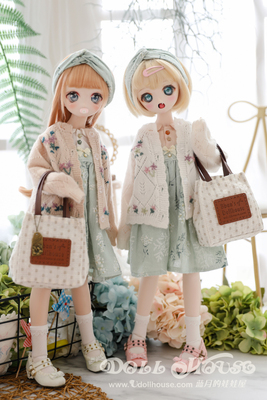 taobao agent Spring leaves and white flowers [Blue Moon's Doll House] msd mdd 4 points bjd size can wear suit + embroidered sweater