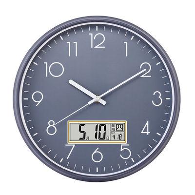 德利时静音挂钟客厅钟表卧室挂表时尚大气现代简约时钟家用石英4