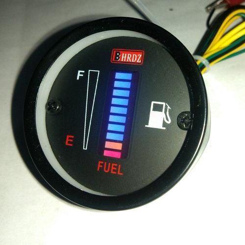 Xe máy xe cụ sửa đổi phụ kiện LED hiển thị điện tử đo dầu sắt vỏ thanh ánh sáng có thể điều chỉnh đo dầu