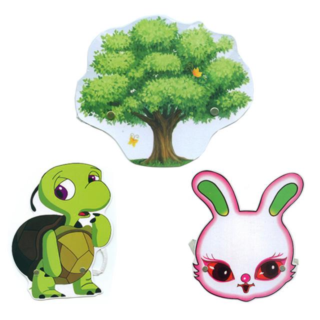 Rùa và thỏ đua Mũ bảo hiểm động vật mới Trẻ em Giai đoạn biểu diễn Đạo cụ Trò chơi Mặt nạ Dạy học - Sản phẩm Đảng / Magic / Hiệu suất