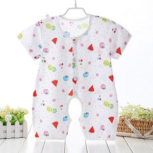 Trẻ em mùa hè bông nhân tạo điều hòa không khí phù hợp với Xiêm quần áo mỏng bé bông lụa đồ ngủ bé bông lụa romper quần áo nhà
