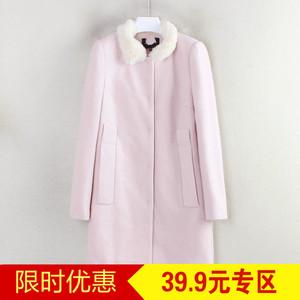 Loạt giảm giá thương hiệu của cô cắt tiêu chuẩn mùa đông phiên bản Hàn Quốc mới của người phụ nữ ngọt ngào áo len lông thú hoang dã C4210