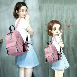 明星同款双肩包女韩版帆布书包