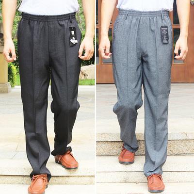 Mùa hè phần mỏng người đàn ông trung niên của quần thường quần lỏng cao eo cũ quần nam quần đàn hồi ông nội mùa xuân và mùa thu quần Quần
