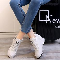 内增高女鞋2017秋季新款系带韩版小白鞋女鞋mm1916