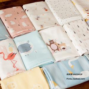 Ồn ào hoạt động một lớp trẻ sơ sinh 60 bông satin giường quần áo làm bằng tay tự làm vải phim hoạt hình bộ sưu tập
