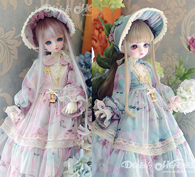 taobao agent [170520] Spring new baby clothes, blooming romantic 4-point BJD MDD giant baby wears forest dress