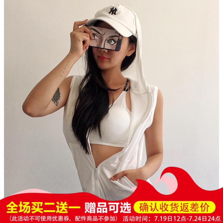Lỏng thể thao vest nữ trùm đầu không tay không tay áo tập thể dục vest vai giảm béo nhanh chóng làm khô yoga mặc vest mùa hè