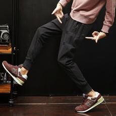 【休闲裤】2018春夏新款男士针织束脚休闲裤 A011-K195*P60 黑色