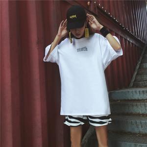 实拍夏季新款休闲chic宽松大码胖mm学院风bf短袖t恤上衣学生女潮