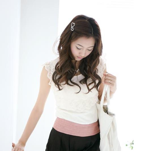 日韩国学生发饰银色镂空满钻花朵边夹小发夹发卡刘海夹子头饰