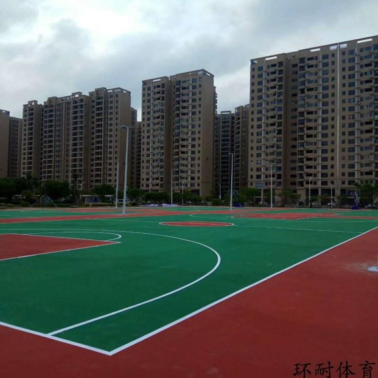 蒙古包头塑胶运动地板铺装蓝球场材料丙烯酸网球场地坪涂料报价