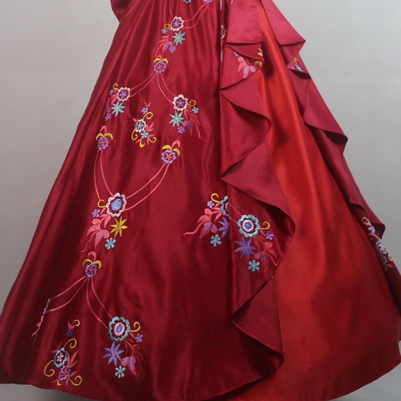 Details About Elena Of Avalor Disney Princess Cosplay Costume Elena Embroide Party Dress