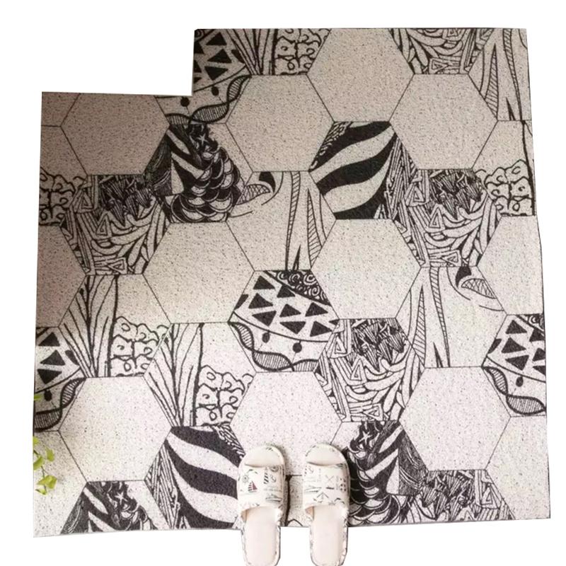进门地垫门口门厅垫子丝圈防滑地毯可剪裁定制脚垫ins北欧简约毯