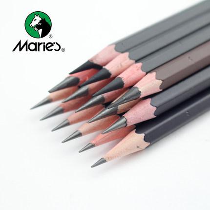 【马利】学生铅笔炭笔套装12支
