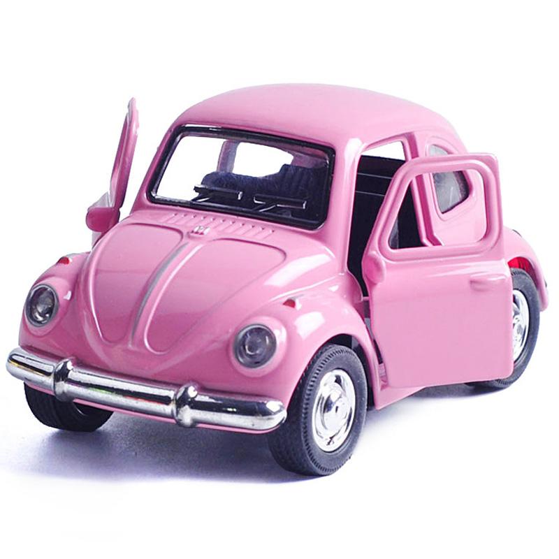 买3送1 Q版合金声光回力汽车模型仿真迷你巴士儿童玩具小汽车车模