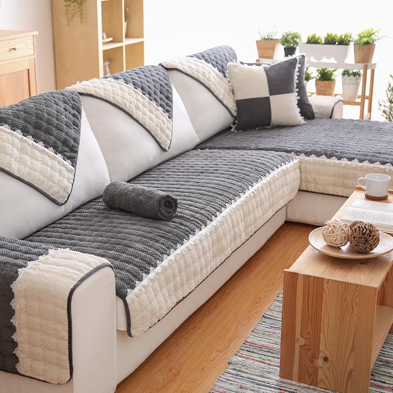 北欧沙发垫简约现代客厅布艺四季通用全包万能沙发套巾罩坐垫子