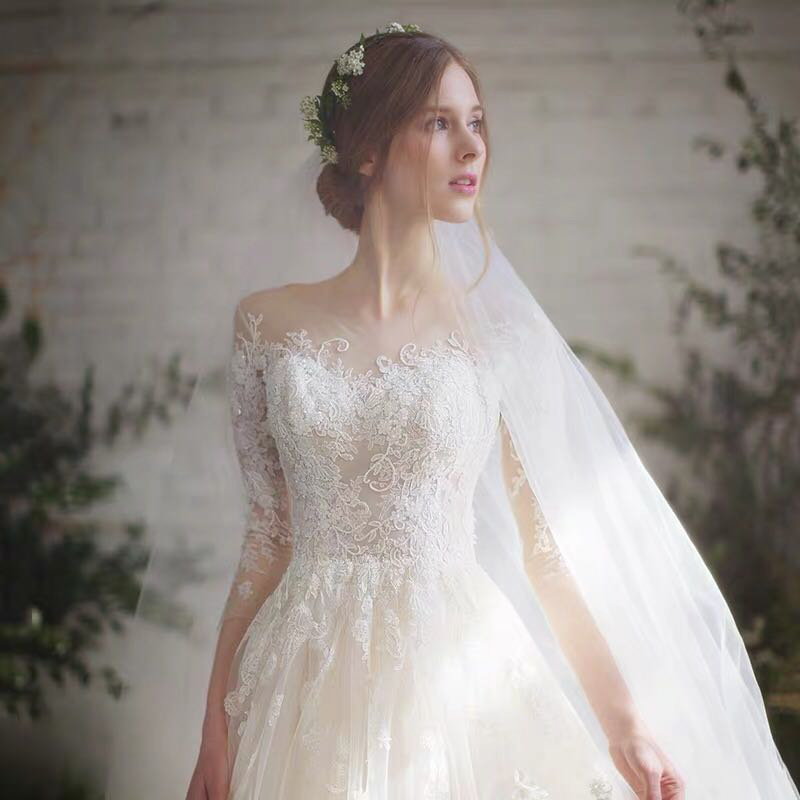 Light Wedding Dress 2020 Summer New Korean Version Of The Bride S Shoulder Long Sleeved Tail Was Thin Qidisen Main Yarn User Directly Buy Udbuy Com,Best Wedding Dress Designers 2020