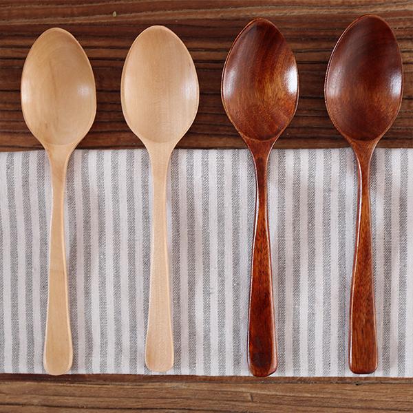 Kawashima House phong cách Nhật Bản và gió gỗ gạo spoon spoon thìa gỗ bộ đồ ăn S-7