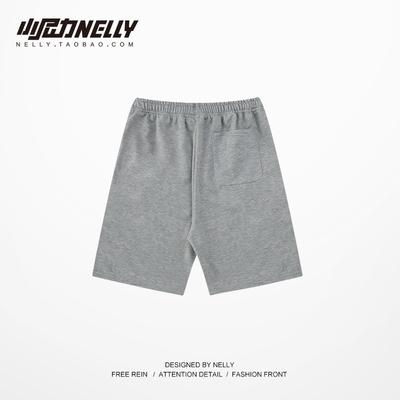 2020 mùa hè mới quần short giản dị nam thủy triều thương hiệu dây rút in quần nam đáy nam giản dị và phụ nữ hip hop - Quần mỏng