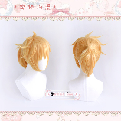 taobao agent 【kira time】cosplay wig V family/vocaloid Kagane Ren/brother formula younger brother