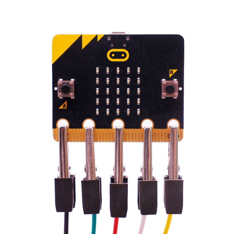 Micro:bit Easy to Use Crocodile Clamp Connector Test Line 40cm Double-Headed Microbit Golden Finger IO Power Supply